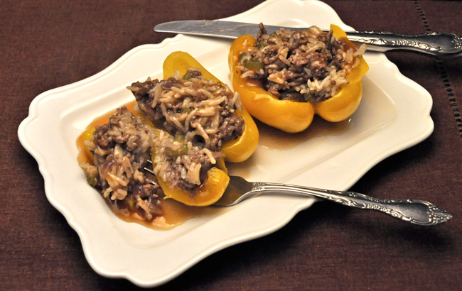 Stuffed peppers, Asian style