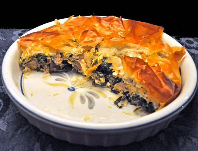 Lamb & Spinach Phyllo Pie
