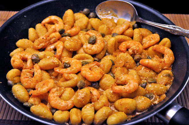 Shrimp with Lemon and Capers
