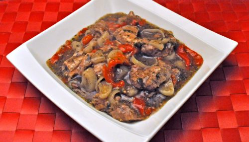 Slow Cooker Lamb Pimiento Stew