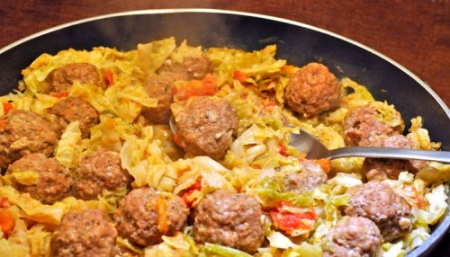 Meatballs & Cabbage