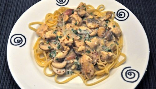Turkey and Mushroom Linguini