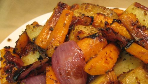 Grilled Potatoes & Carrots