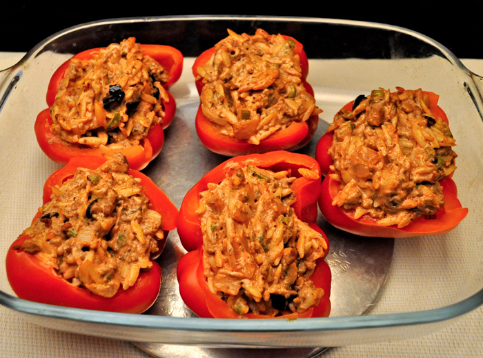 Peppers, Stuffed with Beef & Ricotta