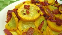 Yellow Squash with Bacon