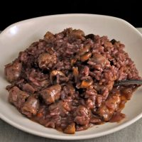 Red Wine and Sausage Risotto
