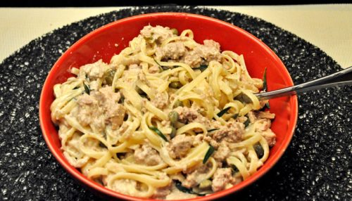 Pasta with Tuna & Capers