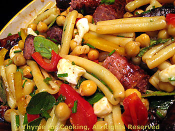 Pasta Salad with Sausage and Chickpeas
