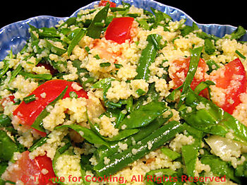 Couscous, Spinach and Green Bean Salad