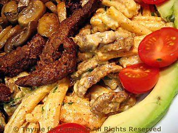 Caesar Pasta with Steak