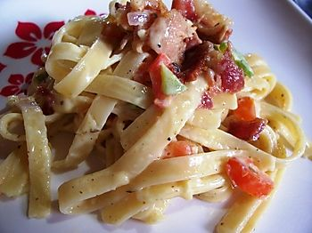 Linguini bacon