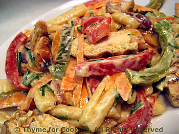 Chicken Pepper Pasta Salad