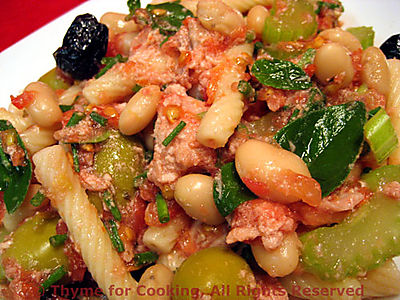 Pasta Salad with Tuna, White Beans and Fresh Tomato Sauce
