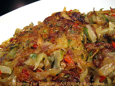 Zucchini, Potato and Red Pepper Cake