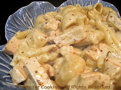 Turkey and Pasta with Mustard Sauce