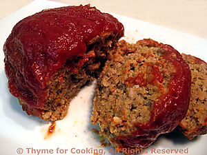Mini Meat Loaf, Sliced