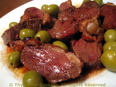 Duck Breast with Olives