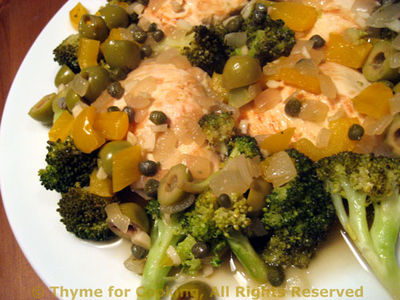Chicken with Broccoli, Olives and Capers