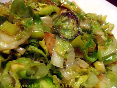 Brussels Sprouts with Leeks