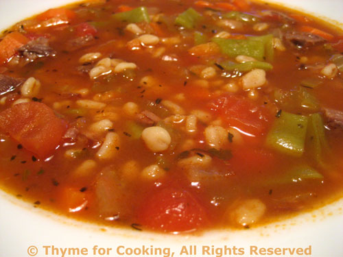 Beef Barley Soup; gaining respect - Thyme for Cooking, Blog