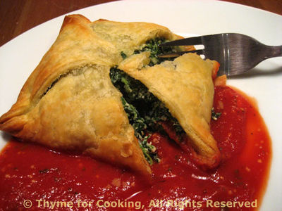 Spinach en Croute with Tomato
