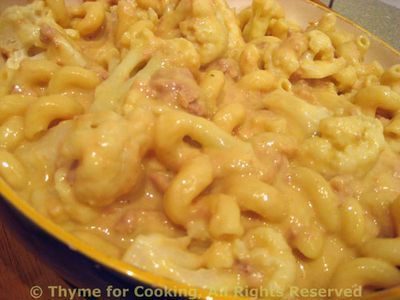 Pasta with Tuna and Cauliflower Cheese