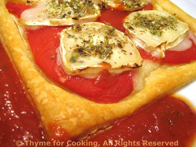 Pastry with Pimiento and Chevre