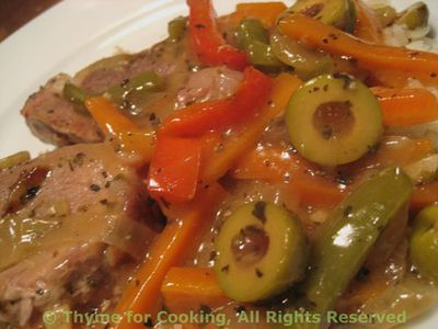 Pork with Peppers and Olives