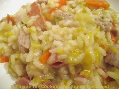 Risotto with Veal and Leek