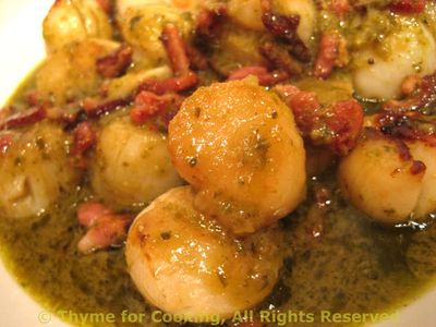Seared Scallops On Pesto