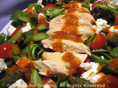 Chicken Asparagus and Feta Salad