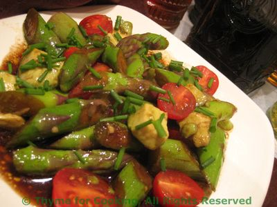 Asparagus Avocado and Tomato Salad