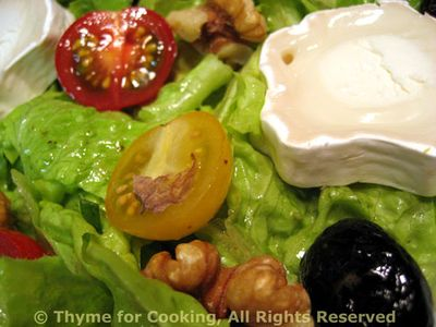 Salad of Lettuce, Walnuts and Chevre