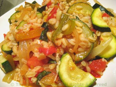 Barley with Zucchini and Tomato