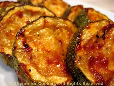 Barbecued Courgette ( Zucchini )