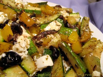Fried Zucchini with Feta and Olives