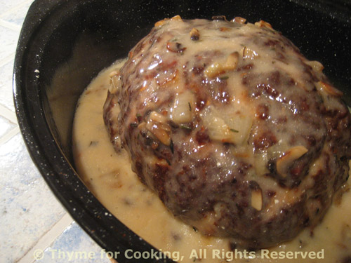 Meat Loaf with Mushroom Sauce; Cleaning forest mushrooms: Ceps - Thyme ...