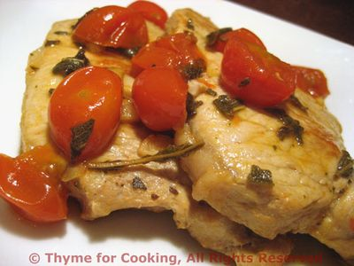 Pork Chops with Tomato and Sage