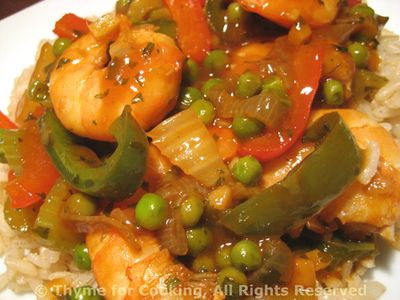 Stir-Fried Shrimp with Peas