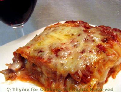 Roasted Red Pepper and Goat Cheese Lasagne
