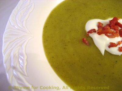 Courgette (Zucchini) and Leek Soup