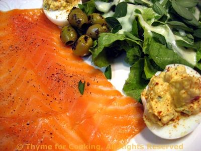 Smoked Salmon Salad with Deviled Eggs