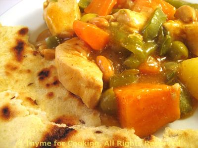 Moraccan Chicken Stew with Naan
