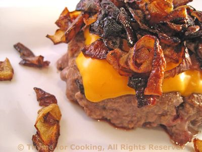 Hamburger Steak with Cheese and Fried Onions