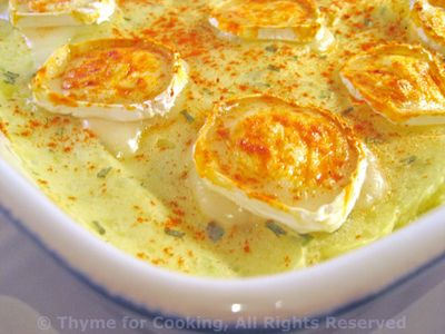 Mashed Potatoes Baked with Goat Cheese