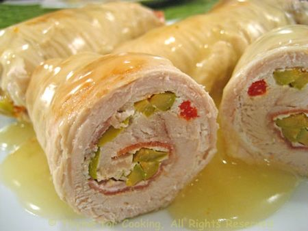 Turkey Rolls Stuffed with Ricotta and Olives