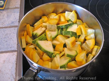 Cooking Courgette
