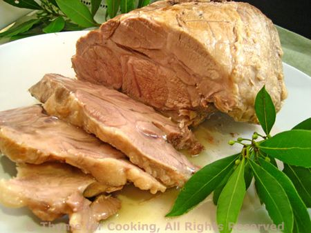 Pork Loin Braised with Bay Leaves