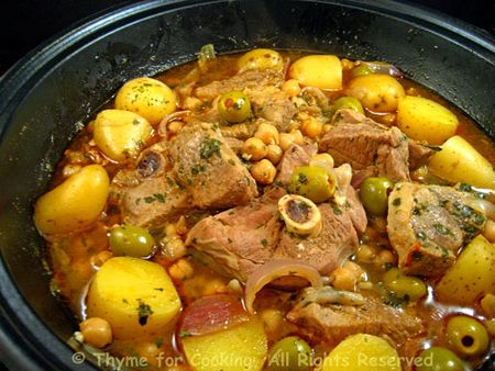 Tagine of Lamb, Chickpeas and Potatoes