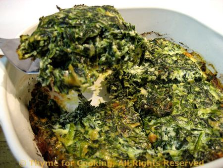 Mock Spinach Souffle